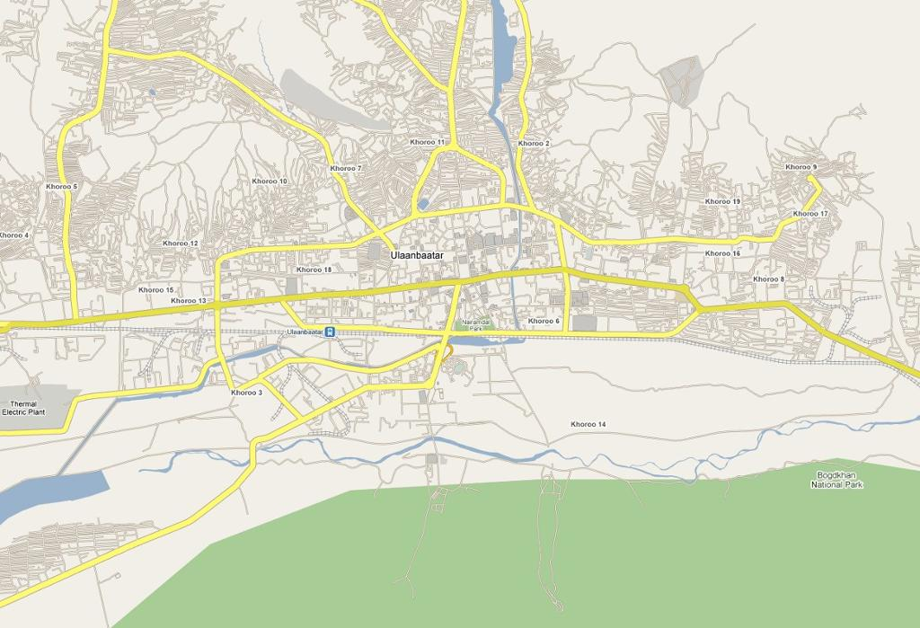Map of Ulan Bator Horseback Mongolia