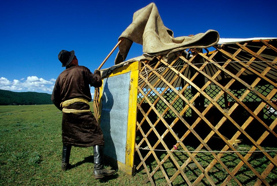 A yurt can be quickly described as a circle tent covered with felt and with a white waterproof hard-wearing hessian. The Mongolian yurt is composed of two ... & Putting up a yurt - Horseback Mongolia